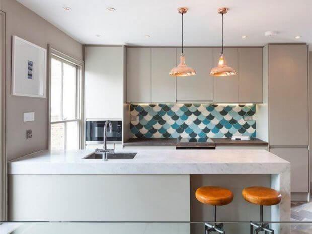 Cozinhas modernas azuleijo moderno