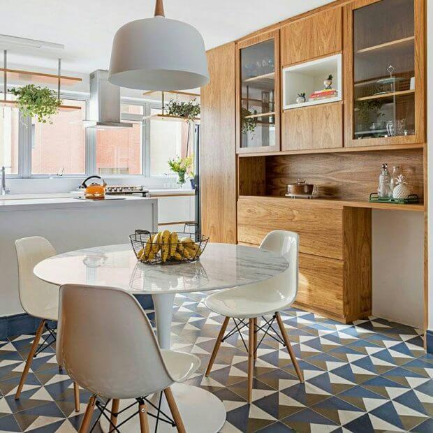 Cozinhas modernas ladrinhos geometricos
