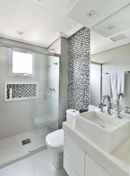 nicho embutido para banheiro